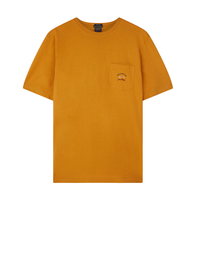 Short Sleeve Heritage Pocket T-Shirt in Orange