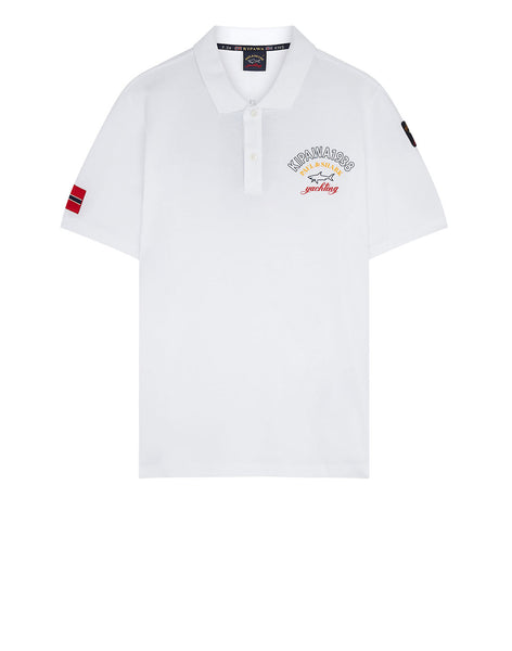 Kipawa 1938 Logo Polo Shirt in White