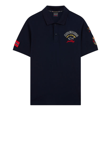 Kipawa 1938 Logo Polo Shirt in Blue