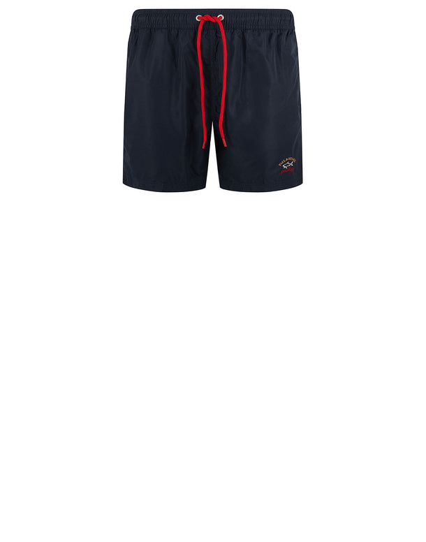 Embroidered Logo Swim Shorts in Blue
