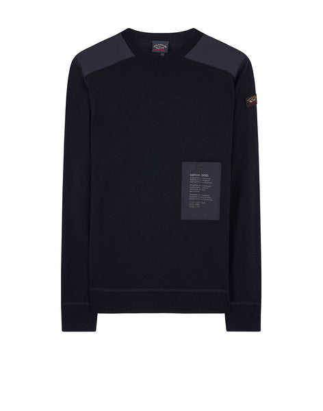 Typhoon 20000 Patch Sweater in Blue