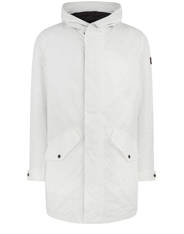 Woven Parka Jacket in Off White