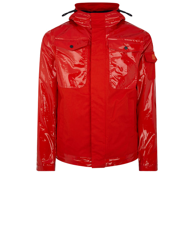 Sharkhub Hooded Sailing Jacket in Red