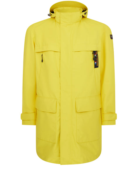 Typhoon Save The Sea Giraglia Overcoat in Yellow