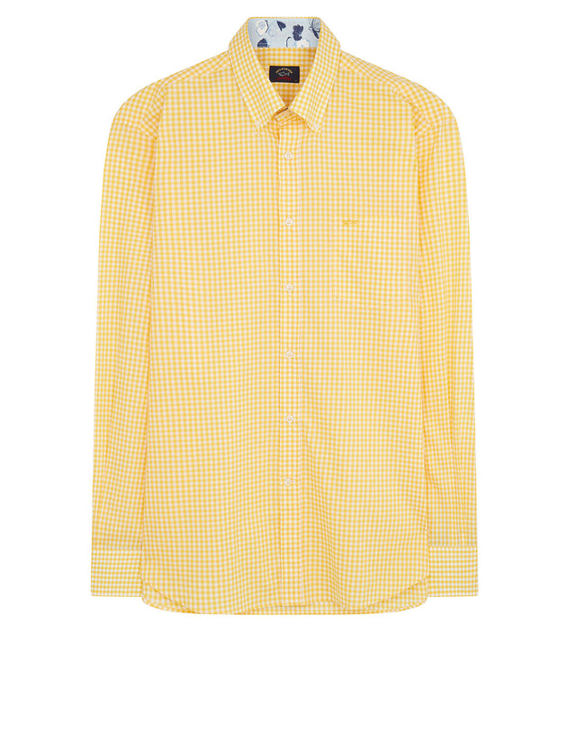 Button-Down Check Shirt in Yellow