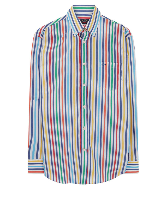 Button-Down Multi-Stripe Shirt in Multi