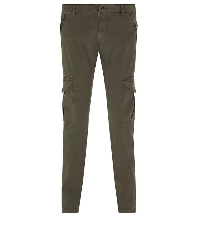 Cargo Pocket Chinos in Khaki