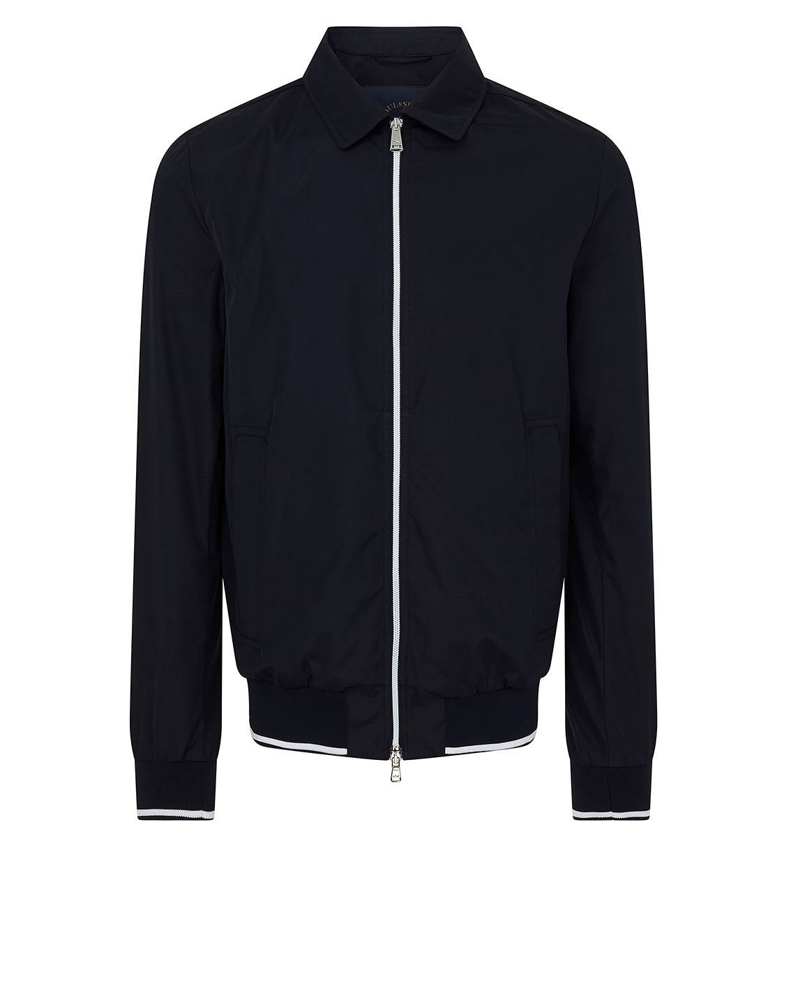 d57b6de7542 Collar Bomber Jacket in Navy