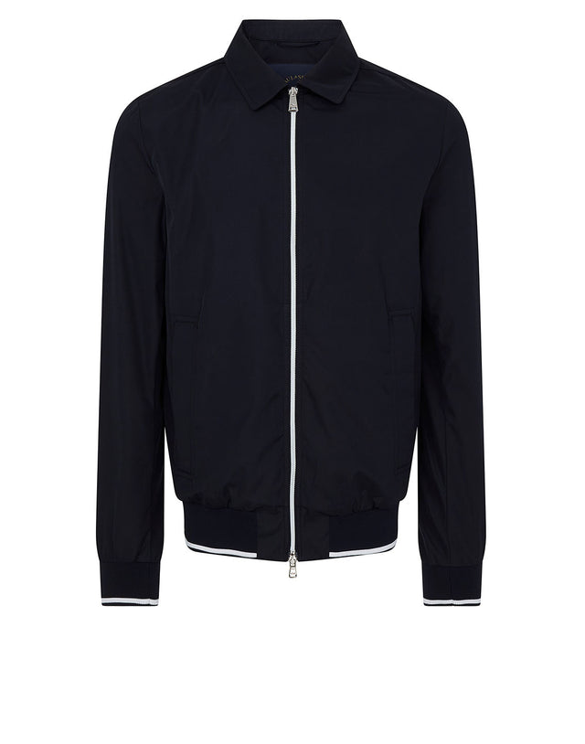 Collar Bomber Jacket in Navy