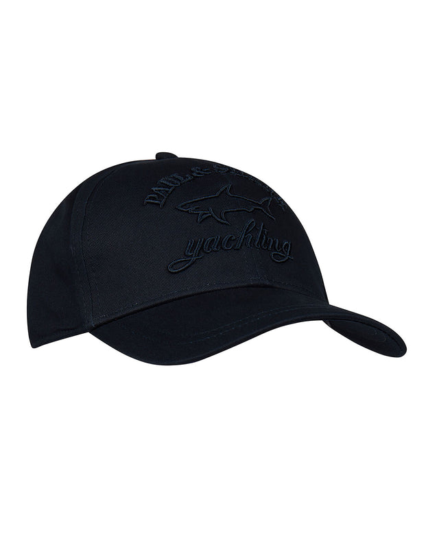 Embroidered Cap in Navy