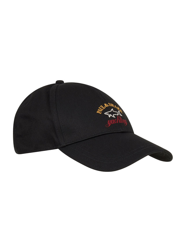 Embroidered Logo Cap in Black