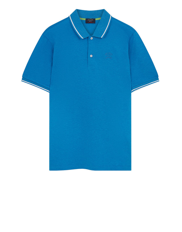 Heritage Shark Polo Shirt in Light Blue