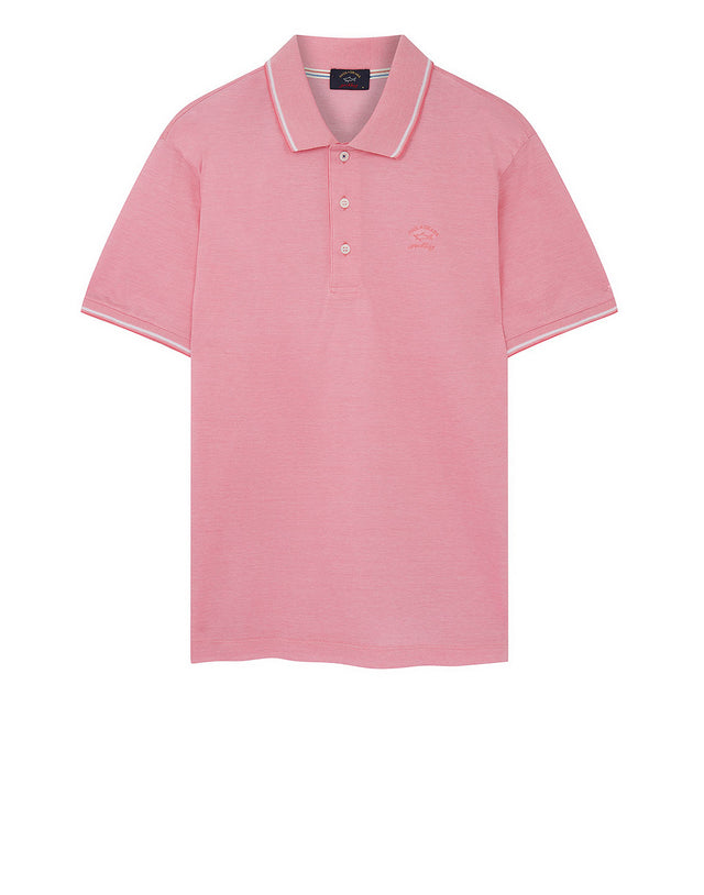 Heritage Shark Polo Shirt in Pink
