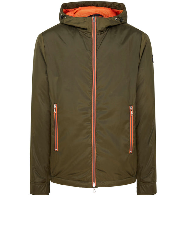 Hooded Sailing Jacket in Military Green