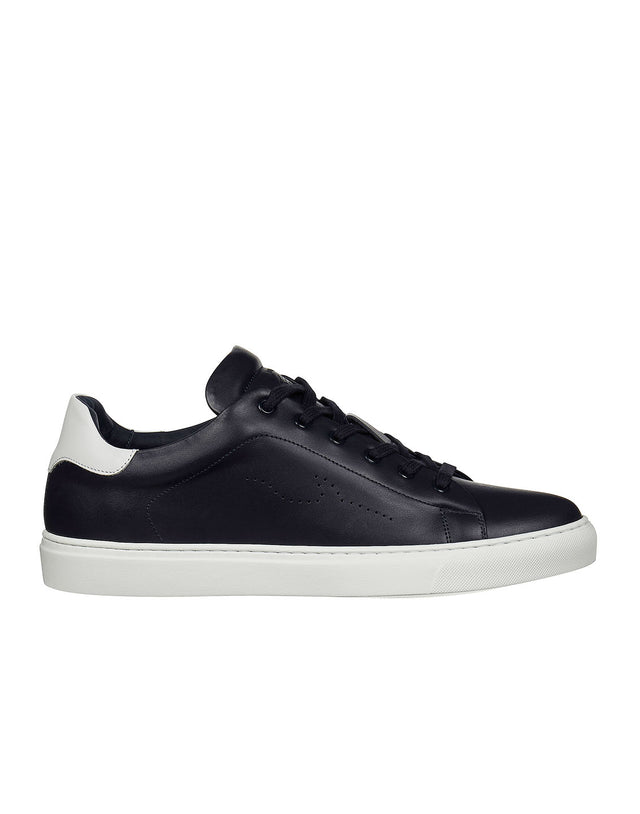 Leather Sneaker in Navy