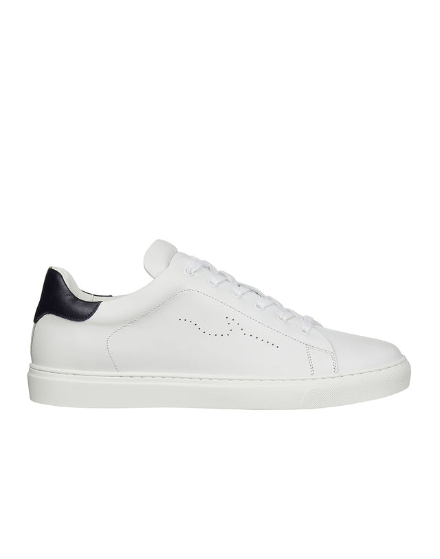 Leather Sneaker in White