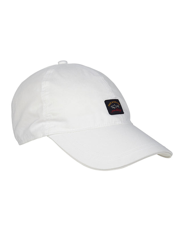 Logo Patch Baseball Cap in White
