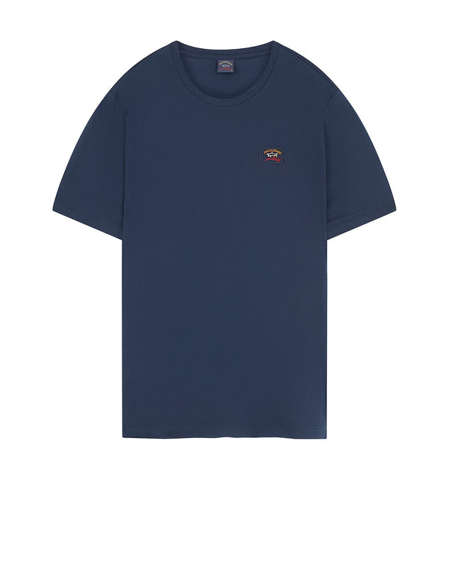 cf2afe24fbcf Logo Patch Crew T-Shirt in Navy