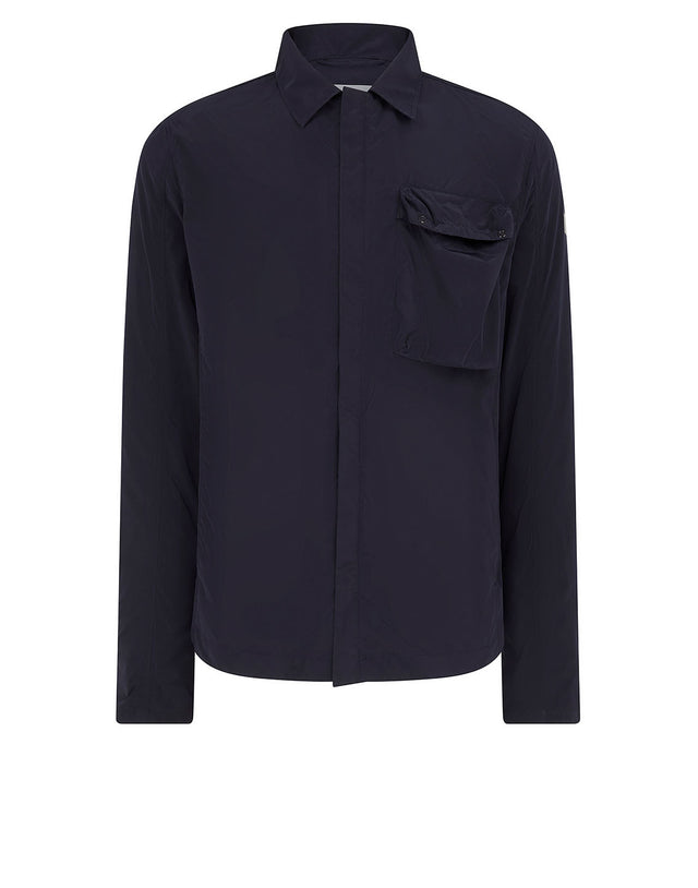 Patch Pocket Overshirt in Navy