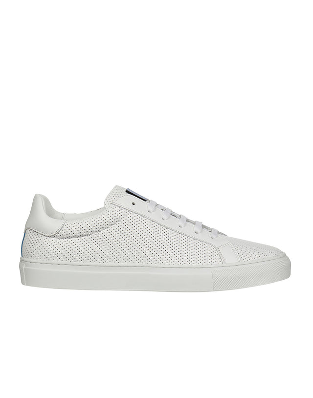 Perforated Leather Sneaker in White