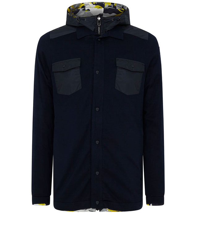 Reversible Sharkflage Jacket in Navy/Yellow
