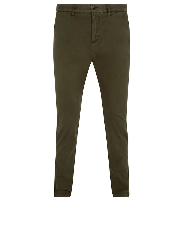 Slim Chino With Button-Down Pockets in Khaki