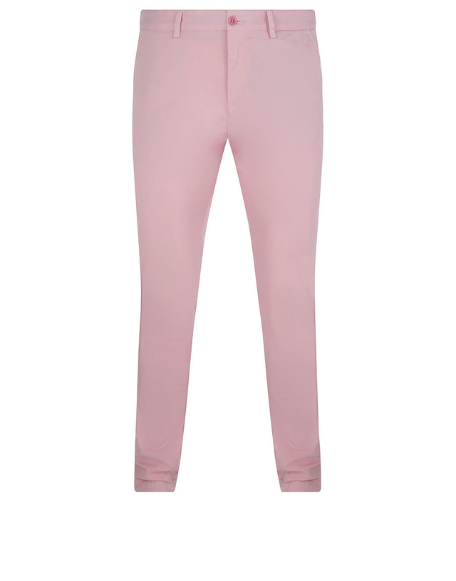 Slim Chino With Button-Down Pockets in Pink