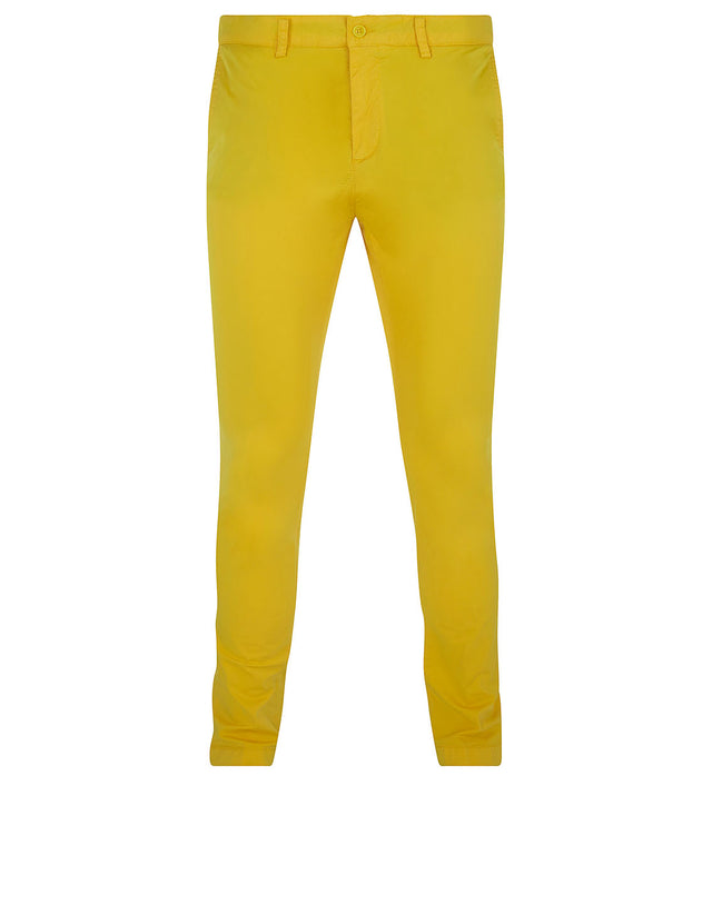Slim Chino With Button-Down Pockets in Yellow