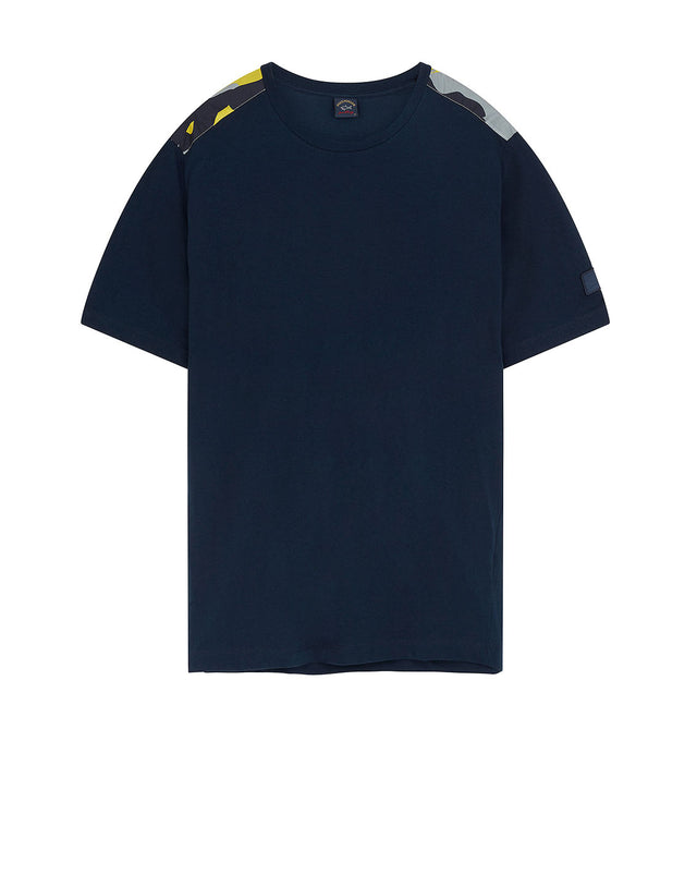 Camo Patch Crew T-Shirt in Navy