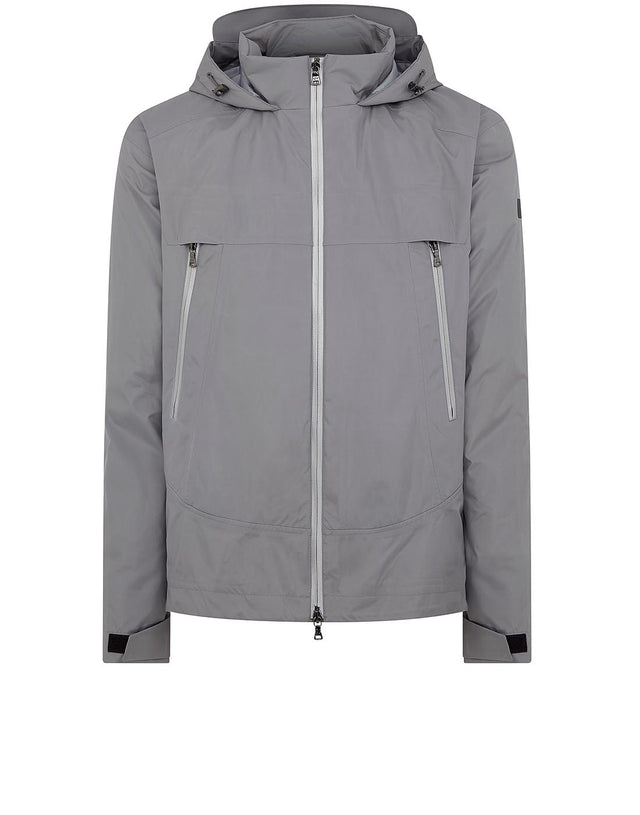 Typhoon Hooded Sailing Jacket in Grey