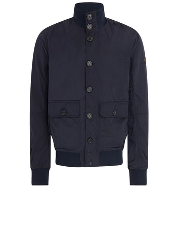 Buttoned Blouson in Navy