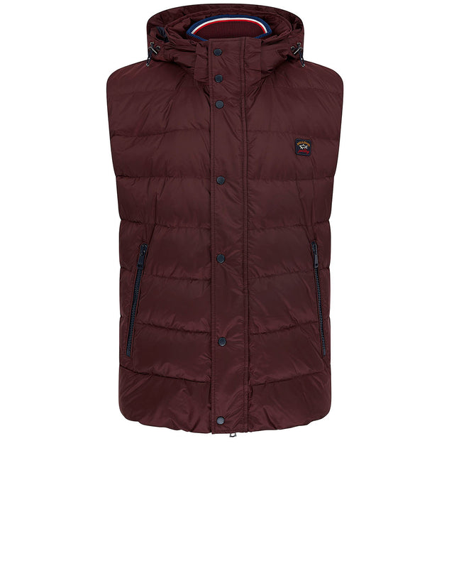 Padded Gilet in Dark Wine