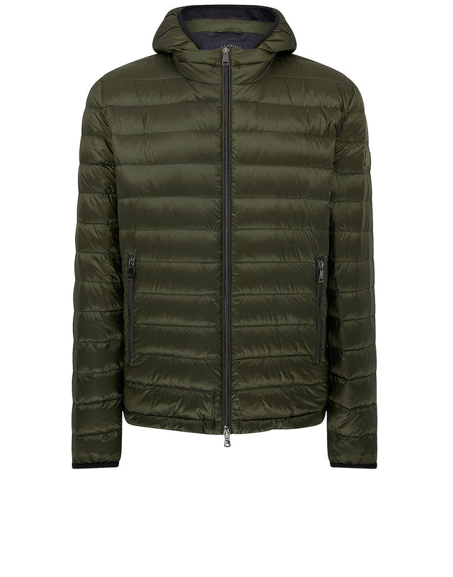 Ultra Light Down Ribbed Jacket in Olive