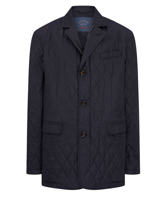 Collared Jacket in Navy