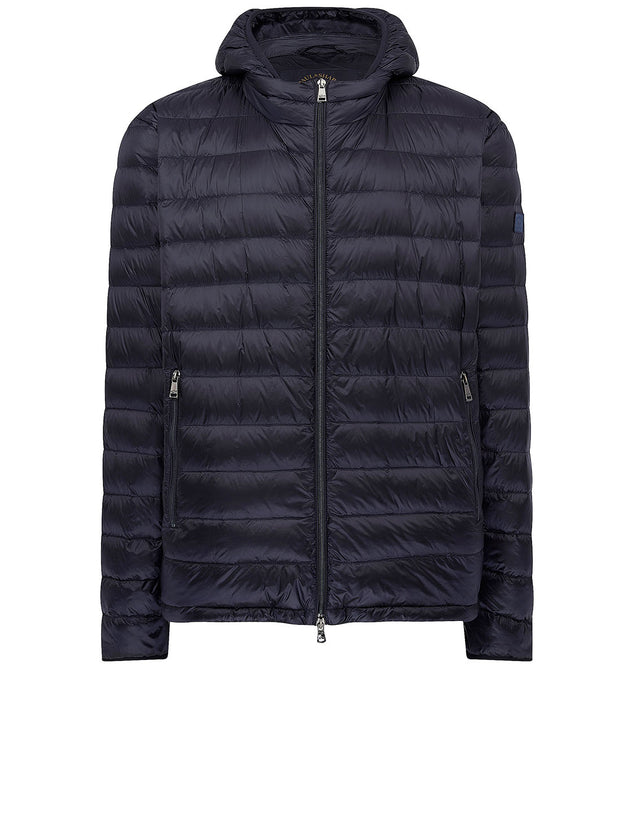 Ultra Light Down Ribbed Jacket in Blue