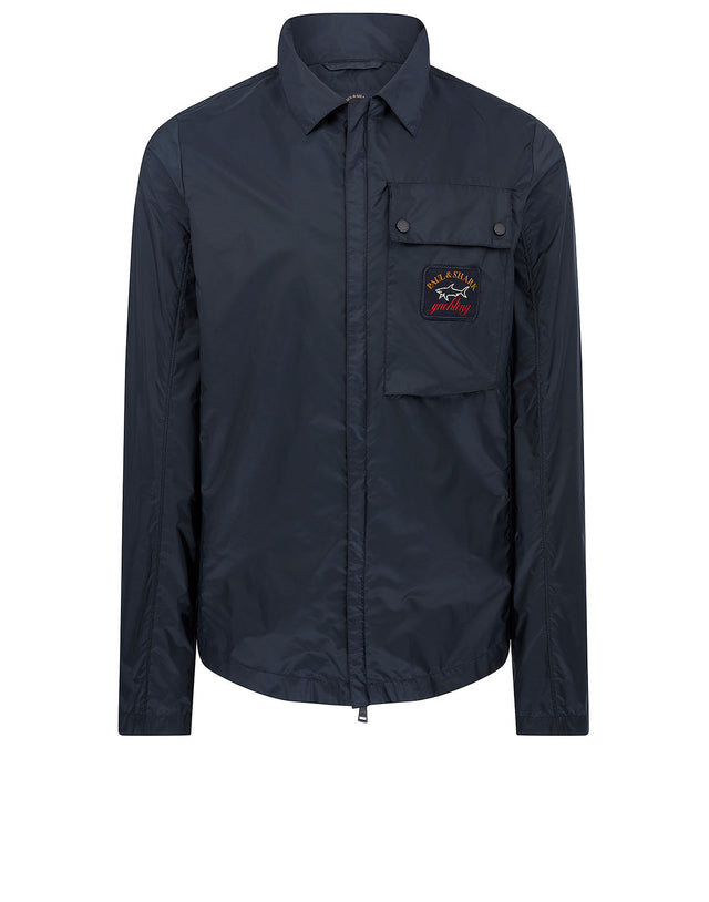 Water Resistant Overshirt in Navy