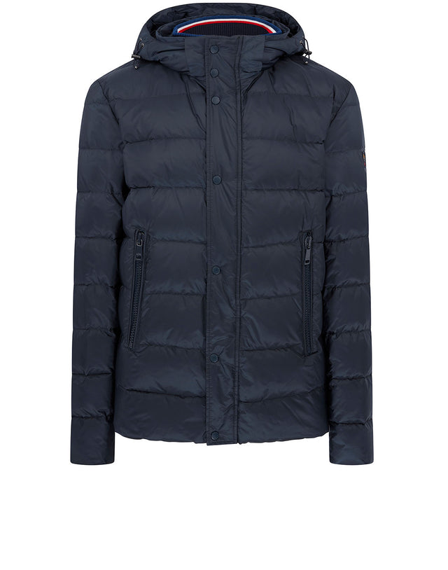Ribbed Padded Blouson in Navy