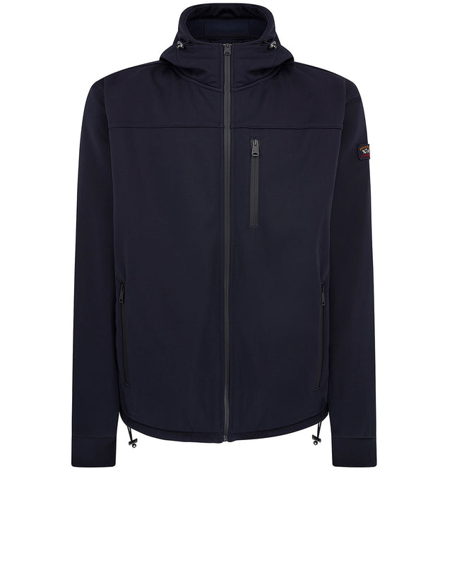 Hooded Utility Jacket in Navy