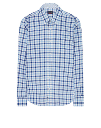 Classic Check Button-Down Shirt in Blue