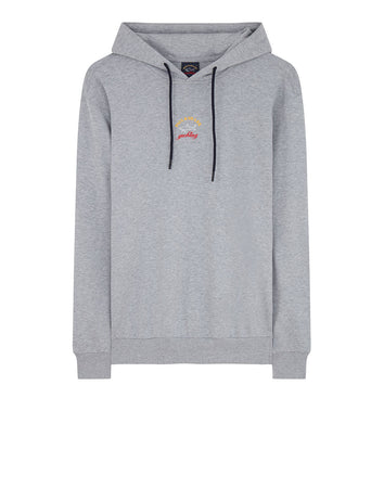 Classic Yachting Logo Pullover Hoodie in Grey