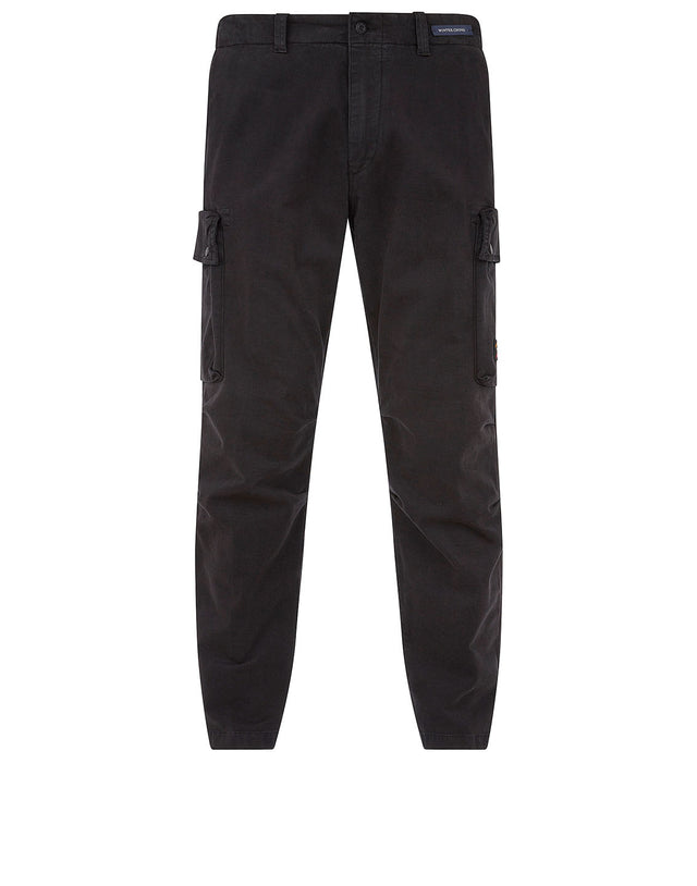 Winter Chino Cargo Trousers in Black