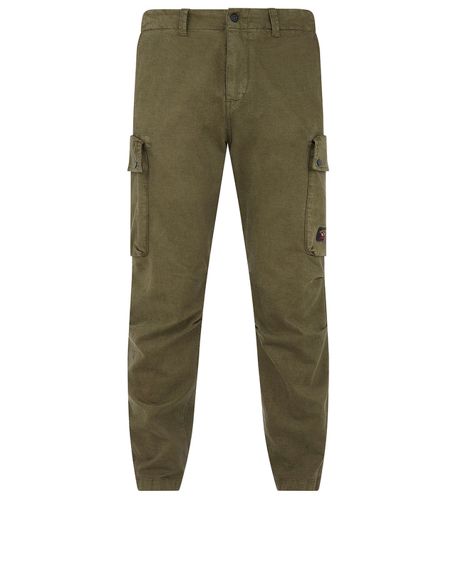 Winter Chino Cargo Trousers in Olive Drab