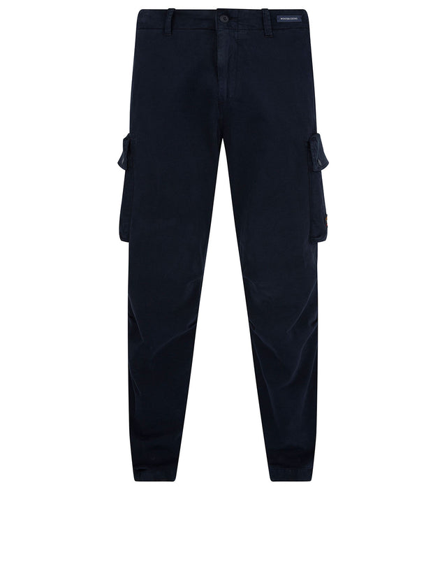 Winter Chino Cargo Trousers in Navy