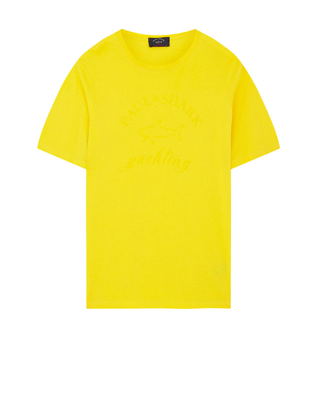 Crewneck Yachting Logo T-Shirt in Yellow