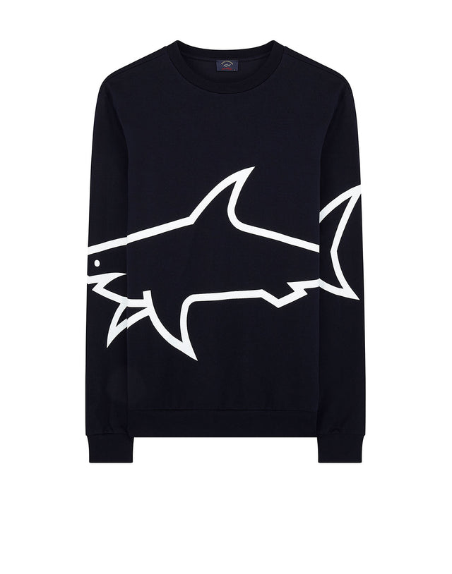 f247d7f565 Large Shark Print Sweatshirt in Navy