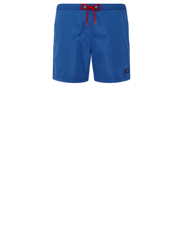 Logo Patch Swim Shorts in Blue