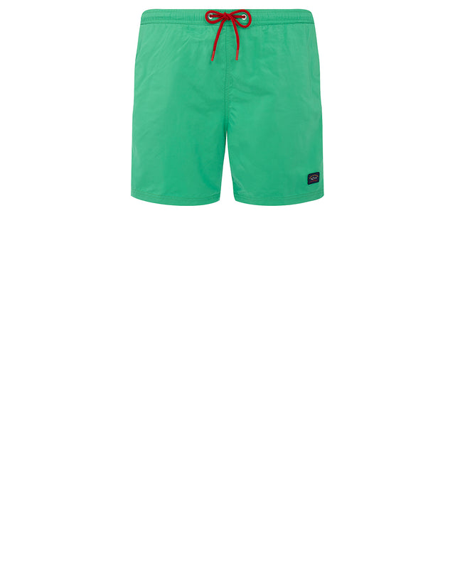 Logo Patch Swim Shorts in Light Green