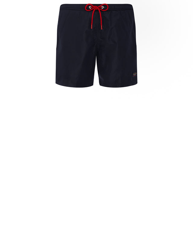 Logo Patch Swim Shorts in Navy