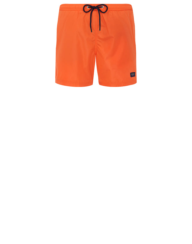 Logo Patch Swim Shorts in Orange