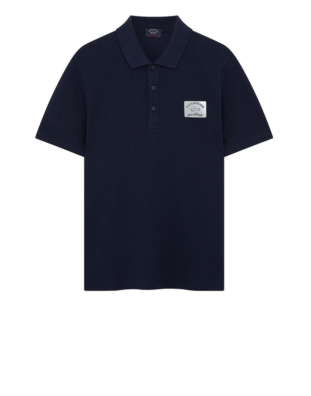 Reflective Patch Polo Shirt in Navy